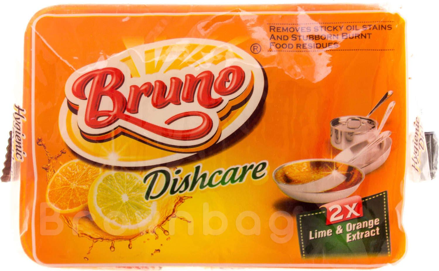 Bruno Dishcare with Lime & Orange Extract + Free Scrubber Worth Rs 6