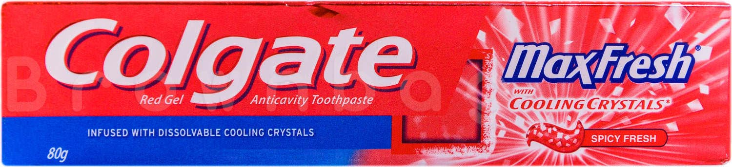 Colgate Max Fresh Red Gel (Spicy Fresh) Toothpaste with Cooling Crystals