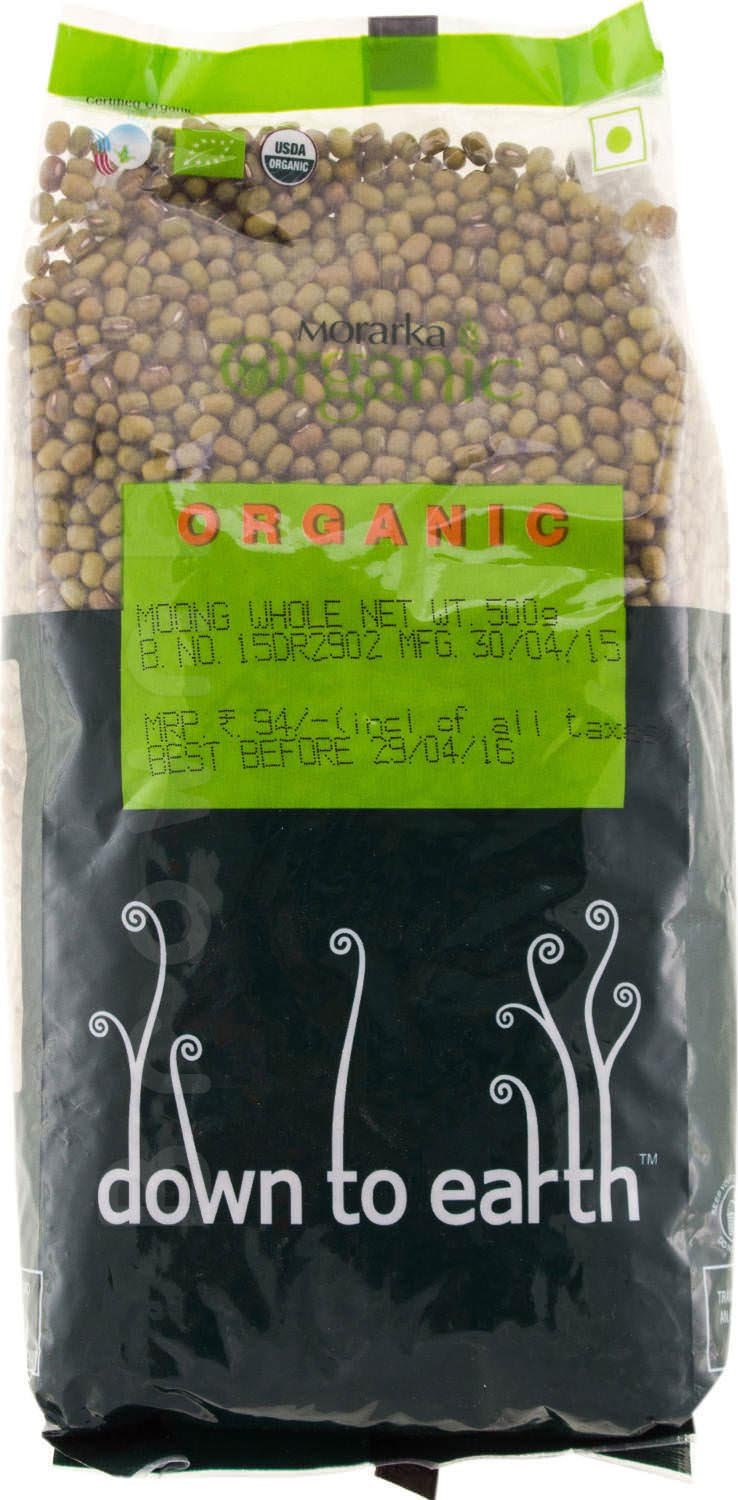 Down To Earth Organic Moong Whole