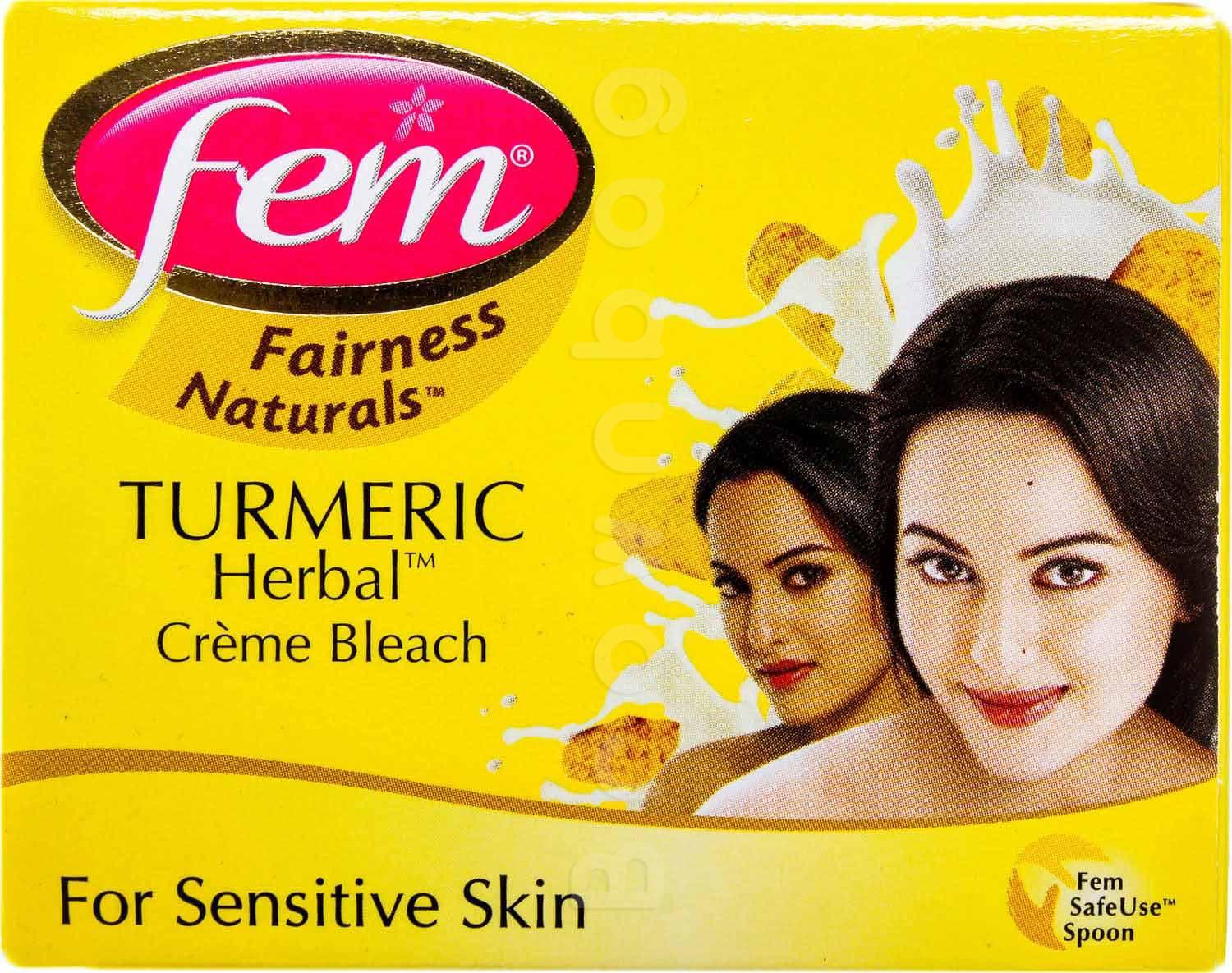 Fem Fairness Natural Turmeric Herbal Creme Bleach