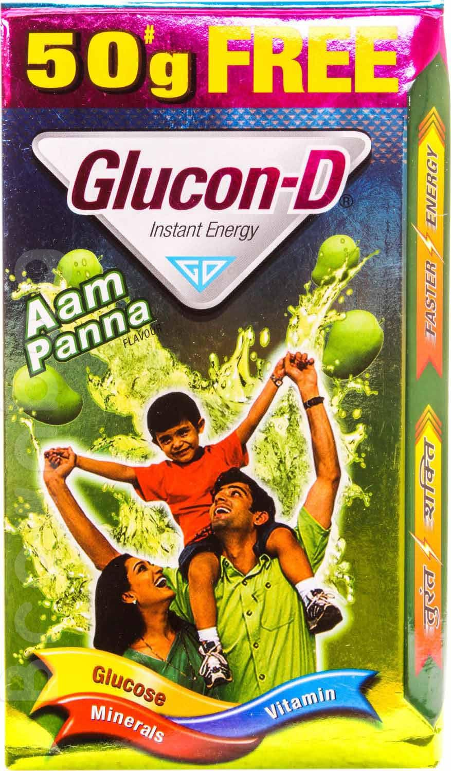 Glucon-D Aam Panna Flavoured Instant Energy Drink + 50g Free
