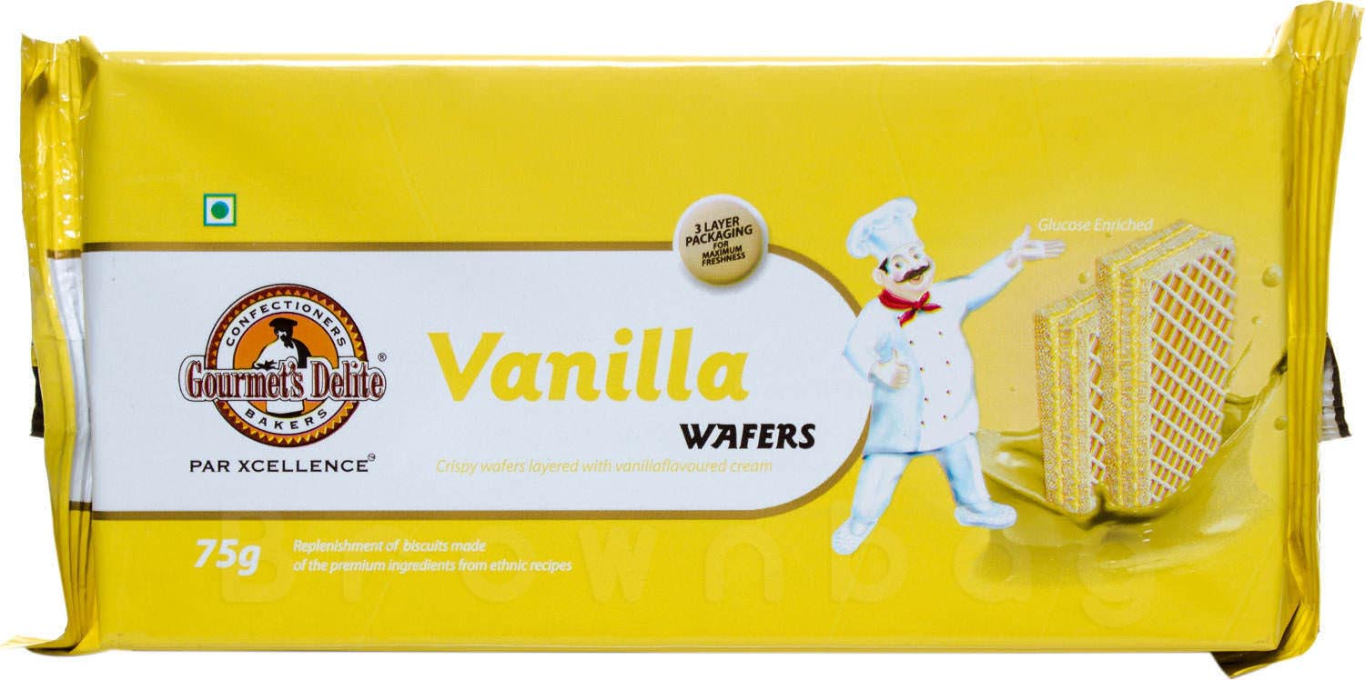 Gourmet's Delite Vanilla Wafers with Glucose Enriched