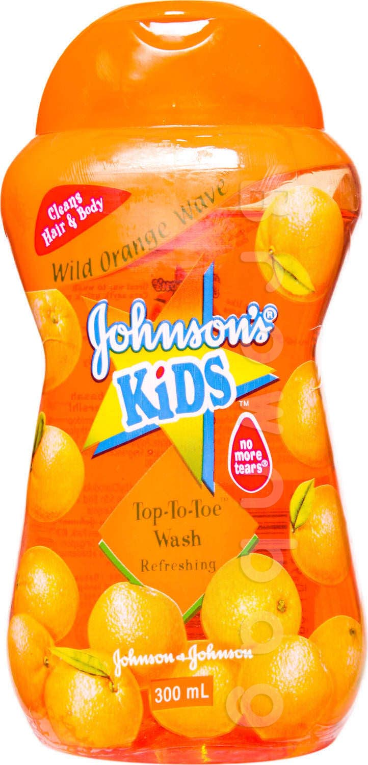 Johnson's Wild Orange Wave Top-To-toe Wash Refreshing Shampoo & Body Wash for Kids