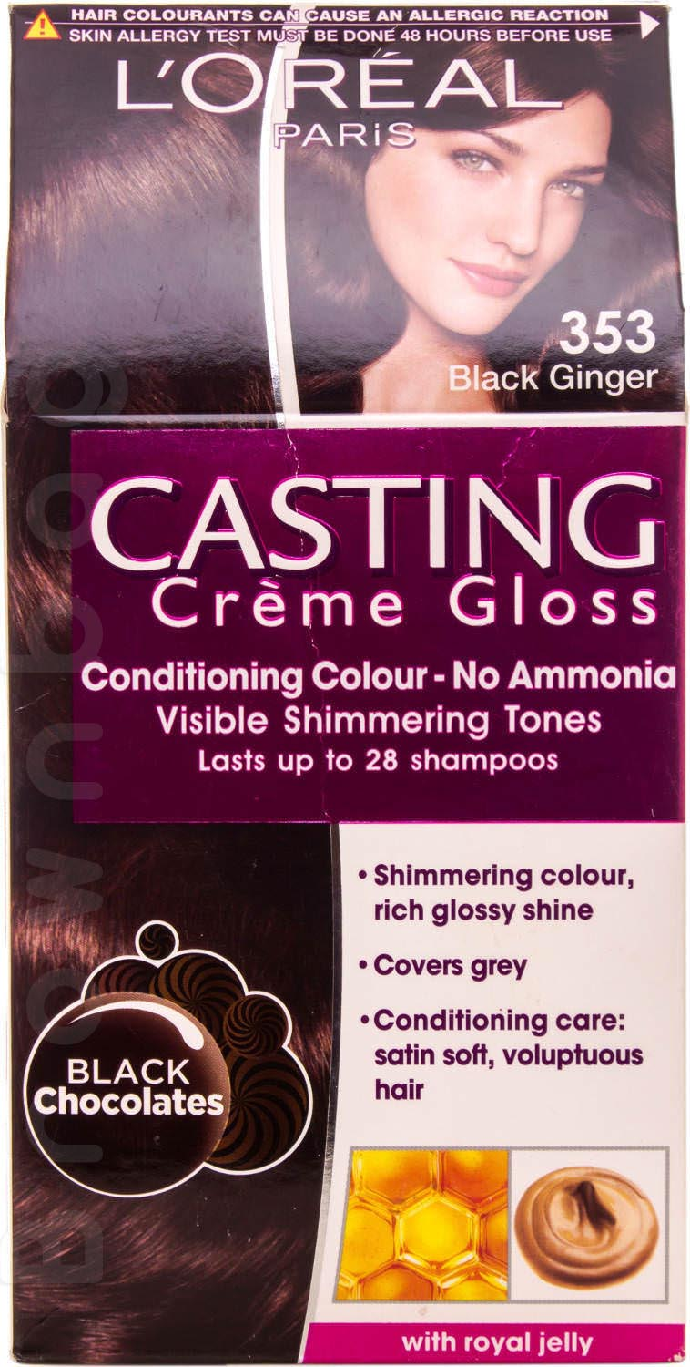 Loreal Paris Casting Creme Gloss Hair Colour, 353 Black Ginger with Royal Jelly