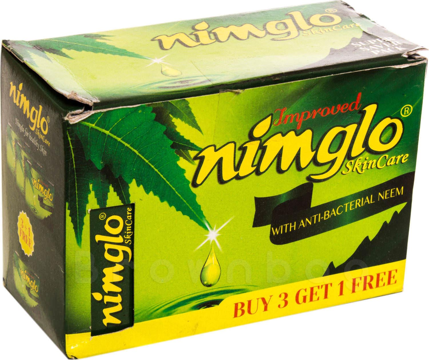 Nimglo Skin Care Body Soap with Anti-Bacterial Neem (Buy 3 Get 1 Free)