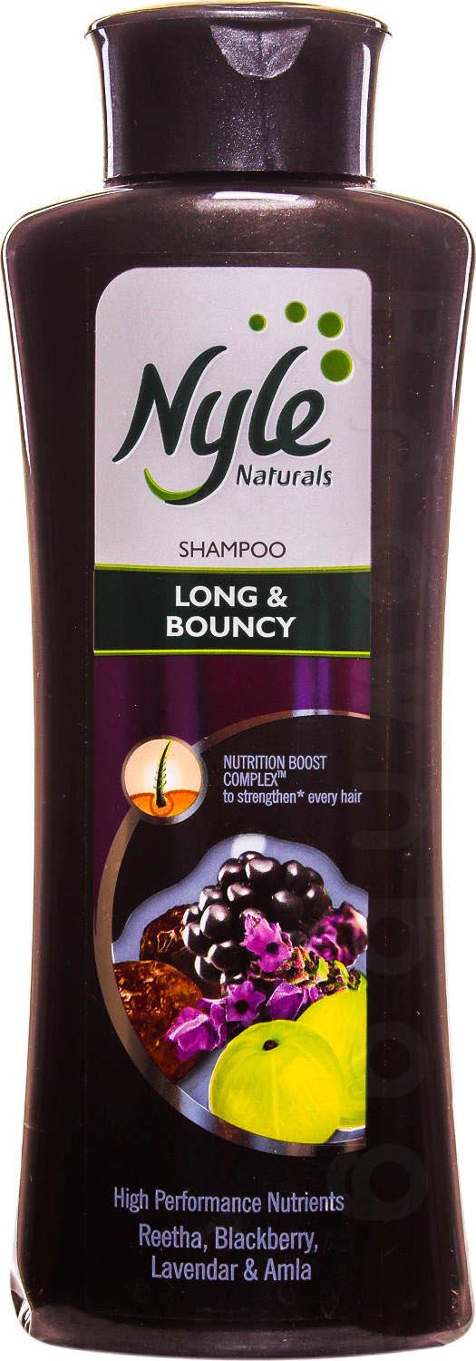 Nyle Naturals Long & Bouncy Shampoo with Retha, Blackberry, Lavendar & Amla