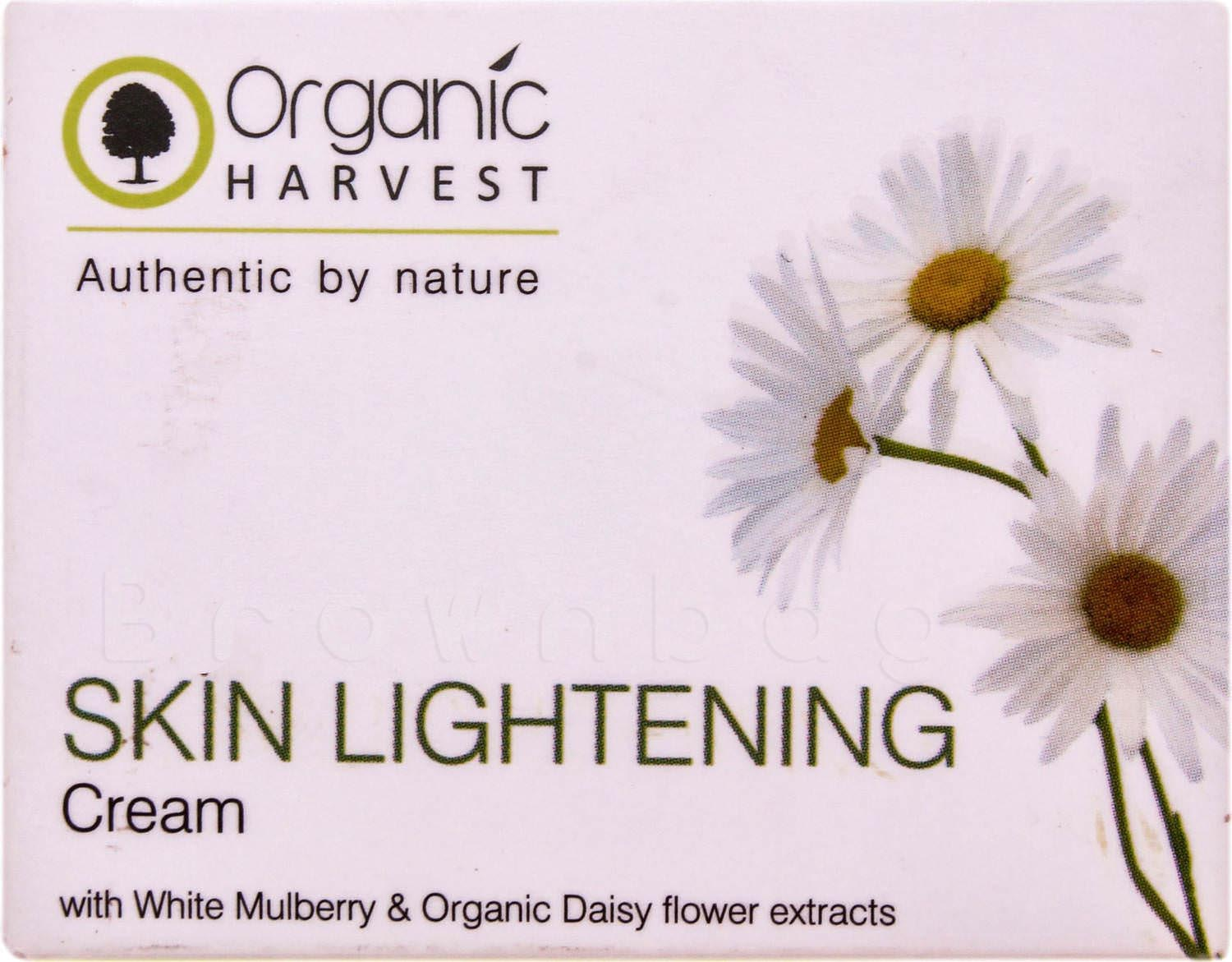 ORGANIC Harvest Skin Lightening Cream with White Mulberry & Organic Daisy Flower extracts