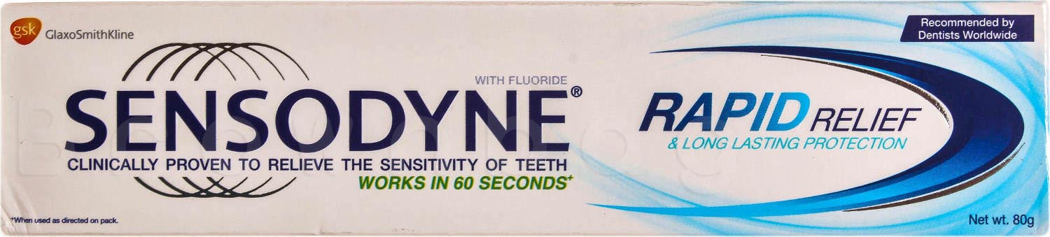 SENSODYNE Rapid Relief & Long Lasting Protection Toothpaste with Fluoride