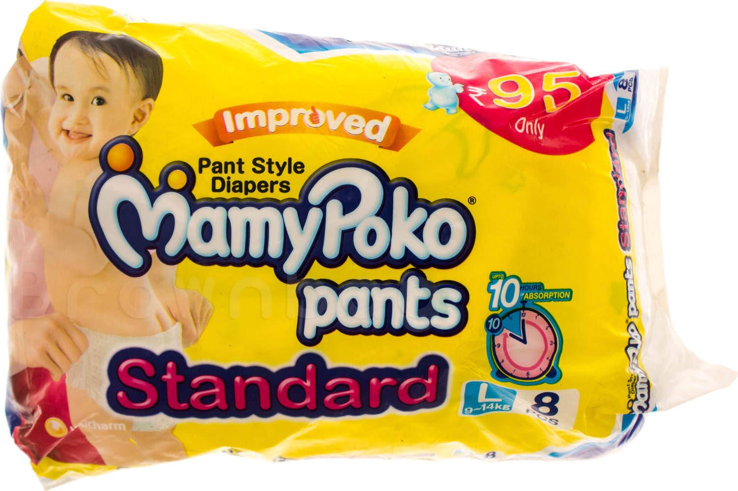 Mamypoko Pants Style Standard Disposable Diapers Large, 9-14kg