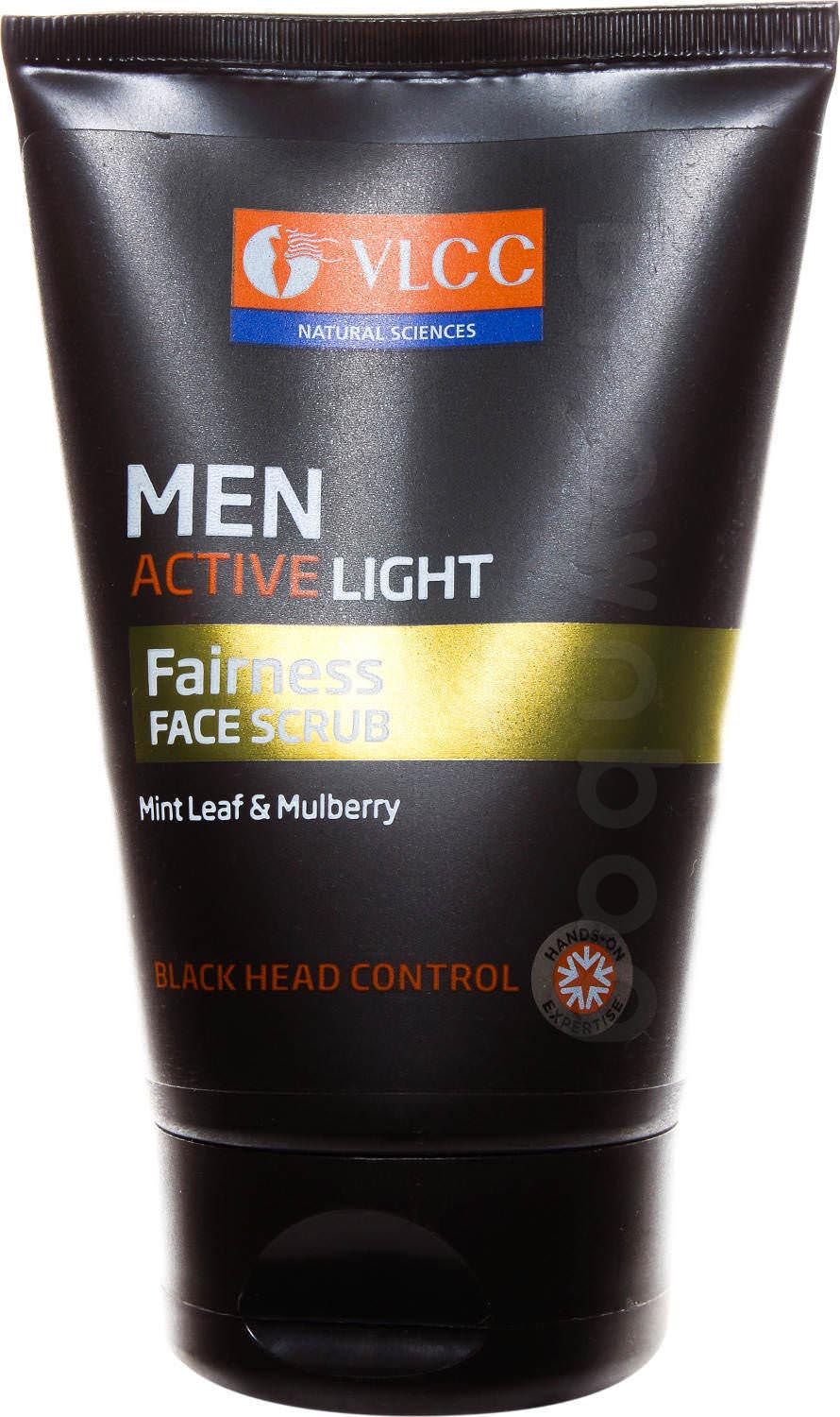VLCC Men Active Light Fairness Face Scrub with Mint Leaf & Mulberry