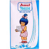 Amul Taaza Homogenised Toned Milk Tetra Pack