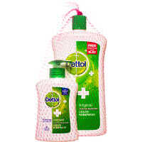 Dettol Original Liquid Hand Wash, Free Dettol Pump 200ml