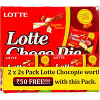 Lotte Choco Pie Pack of 12, Free 2 x 2s on Worth Rs.50