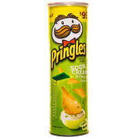 Pringles Sour Cream & Onion Flavour Potato Crisps, Free Coke 250 ml